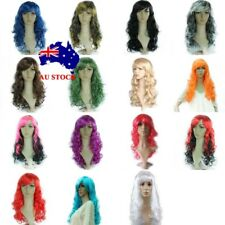 AU Fashion Women Long Wavy Curly Full Wigs Synthetic Halloween Cosplay Party Wig