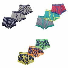 Childrens/Boys Cotton Rich Trunk Fit Boxers (Pack Of 3) (KU225)