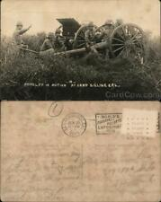 1915 RPPC Marina,CA Artillery in Action at Camp Gigling,Fort Ord California
