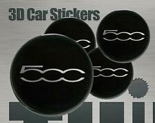 Wheel stickers Fiat 500 Center Cap Logo Badge Wheel Trims Rims Decal 3d Hub Caps