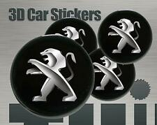 Wheel stickers Peugeot Center Cap Logo Badge Wheel Trims Rims Decal 3d Hub Caps