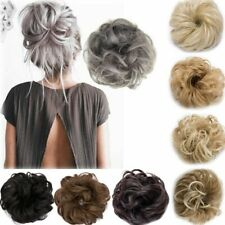 Hair Extensions Real As Human Curly Messy Bun Hair Piece Scrunchie Updo Cover