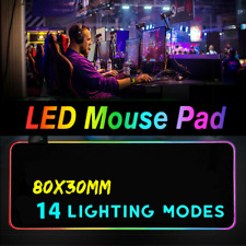 ❤ Extended LED Lighting Colorful RGB Gaming Mouse Pad Keyboard Mat For PC
