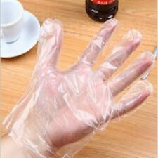 100PCS Plastic Clear Disposable Gloves Food Cooking Cleaning Catering Beauty New