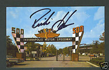 Richie Hearn signed Indy 500 postcard