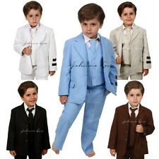 Johnnie Lene Boys Cotton/Linen Summer Suit Baby to Teen