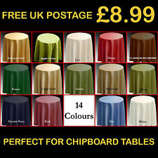 "Plain Tablecloth 173cm Round 68"" 14 Colours Circular Table Cloth P73"