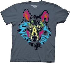 Wolf Shirt His Face Says Hungry Like A Wolf Adult T Shirt LOOK CLOSE Awesome Pic