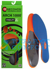 10-Seconds Arch 1000 Performance Insoles for Superior Arch Support