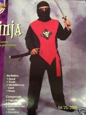 Paper Magic Ninja Black Red Martial Arts Child Costume