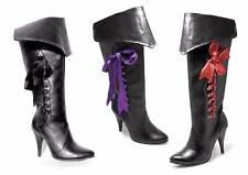 Ellie Shoes Black 418-PIRATE Adult Womens Costume Boots