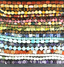 YOUR CHOICE GEMSTONE BEADS -MANY STONES SHAPES SIZES 8""