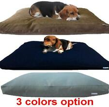 "LARGE 40""X35"" SHREDDED MEMORY FOAM COMFORT PET DOG BED PILLOW + Waterproof Cover"