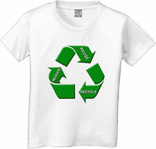 REDUCE REUSE RECYCLE GREEN ENVIRONMENT KIDS T-SHIRT