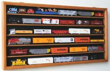 HO Train Display Case Cabinet for HO Scale Model Train Set - Lockable