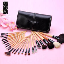 Fräulein3°8 Wooden Makeup Cosmetic Brushes Set w/Case