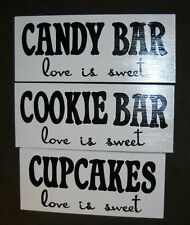 COOKIE CANDY BAR CUPCAKES Wedding Birthday Party Sign