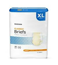 60 XL Incontinence Adult Briefs Diaper Disposable, Poly Back, Extra Large