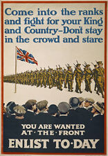 W49 Vintage WWI For King & Country British Recruitment Poster WW1 - A1 A2 A3