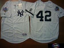 MAJESTIC 1999 World Series Yankees MARIANO RIVERA SEWN Baseball Jersey WHITE