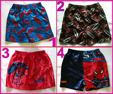 SPIDERMAN - Sz 2 3 4 6 8 10 Boys Satin BOXER SHORTS - NEW - Awesome Spider-Man
