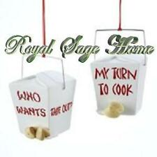 "2.5"" Asian Chinese Food Take Out Rice Container Christmas Ornament"