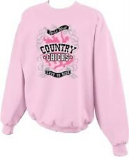 Country Chicks Love to Ride Horse Glitter Cowgirl Crewneck Sweatshirt-S--5x