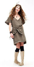 Gypsy 05 Mona Belted Dress in Olive New With Tags