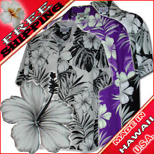 Hibiscus Blossom Men's Hawaiian Shirts 410-3589 NEW 100% Cotton Made in Hawaii