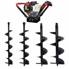2.3HP V-Type 55CC 2 Stroke Gas Post Hole Earth Digger Auger 4 , 6 , 8 , 10""