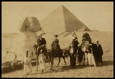 PH11 Vintage Victorian Tourists Sphinx Egypt Egyptian Pyramid Photo Print A3/A2