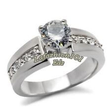 Classic 1.40ct Women's Stainless Steel Wedding/Engagement Ring SZ 5-10