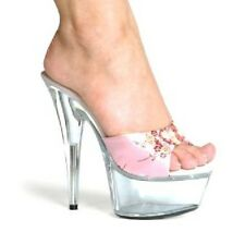 INDIA Asian Geisha Pink Mule Stiletto Stripper Dancer Sexy Adult Costume Shoes