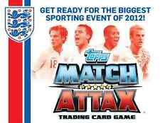 Match Attax England 2012 (Euro 2012) Man Of The Match Cards - Blue Backed Cards