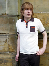 NEW MENS MOD SIXTIES 70s RETRO MARRIOTT INDIE POLO :All Sizes: Vintage Seventies