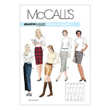 McCall's 3830 Sewing Pattern to MAKE Quick & Easy Pencil Skirt in 5 Lengths