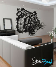 Vinyl Wall Decal Sticker Angry Tiger Growl 791s