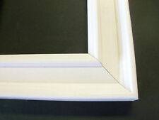 Bright White Solid Wood Picture Frame-Custom Made Square Frames