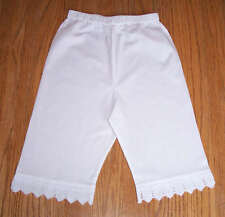 Wholesale Victorian Lace Girls Bloomer Retro Petti Pants Organic Cotton Lot of 6