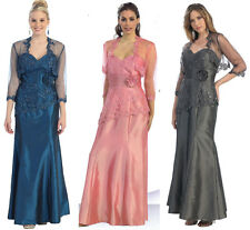 5 COLOR FORMAL OCCASION WEDDING MOTHER OF BRIDE GROOM DRESS EVENING GOWN M / 5XL