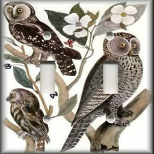 Light Switch Plate Cover - Three Wise Old Owls - Vintage Decor