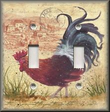 Light Switch Plate Cover - Country French Rooster - Kitchen Home Decor
