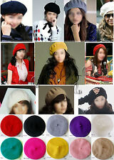 Unisex Wool French Beret Newsboy Hat Cap Tam in multiple colour hat004