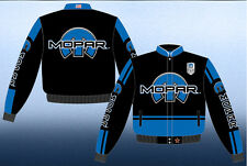 Mopar Racing Logo Jacket 75 Years Black Twill Adult - Brand New