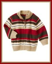 NWT Gymboree 4T Gymboree EMPIRE STATE EXPRESS Striped Zip Dog Sweater Cardigan