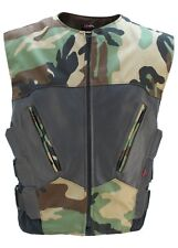 MADE IN USA CAMOUFLAGE CAMO LEATHER CORDURA TACTICAL STYLE MOTORCYCLE BIKER VEST