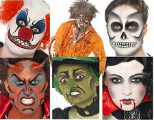 HALLOWEEN MAKE UP FACE PAINT KITS EVIL CLOWN ZOMBIE SKELETON WITCH VAMPIRE DEVIL