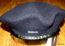 Mens Classic  Kangol  Wool  Monty  Military  Beret  Color  Dark Blue