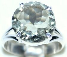 Green AMETHYST Ring 925 Sterling SILVER Solitaire Gemstone Rings; L M O P Q R