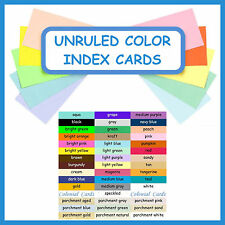 150 ~ 3x5 Index Cards Color Cardstock Blank Unruled Colored Card Stock Colors